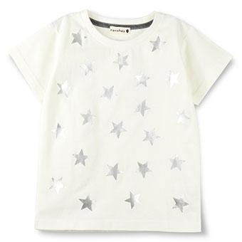 星箔プリント半袖Tシャツ