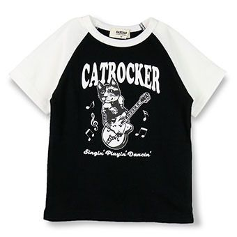 キャットロッカーラグランTシャツ