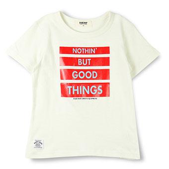 4段BOXロゴプリントTシャツ