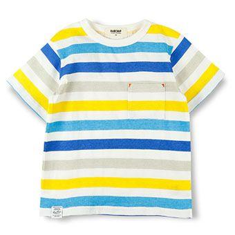 マルチボーダープリント半袖Tシャツ