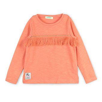 フリンジ長袖Tシャツ