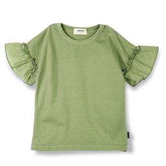 切替スリーブ半袖Tシャツ