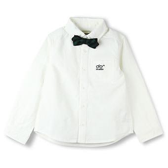 蝶ネクタイ付き長袖シャツ