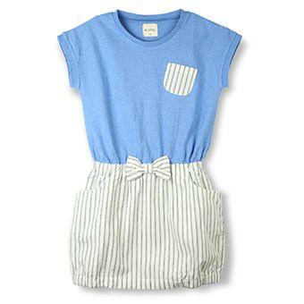 Tシャツ×スカートドッキングワンピース