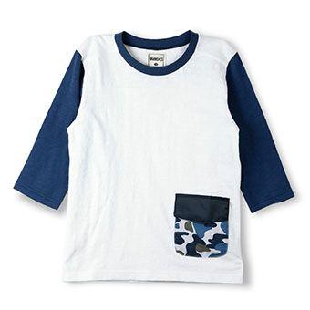 カモフラポケット7分袖Tシャツ