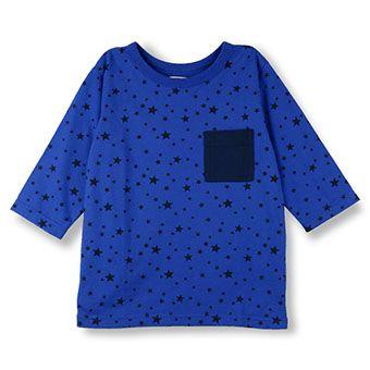 星柄プリント7分袖Tシャツ