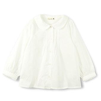 丸襟長袖シャツ