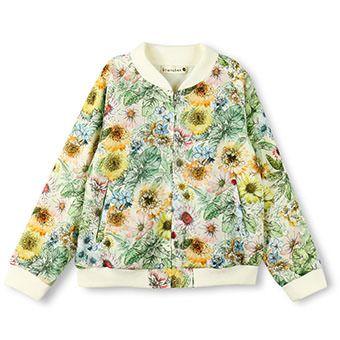 花柄ボンバージャケット