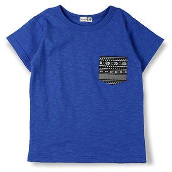 ポケット付き半袖Tシャツ