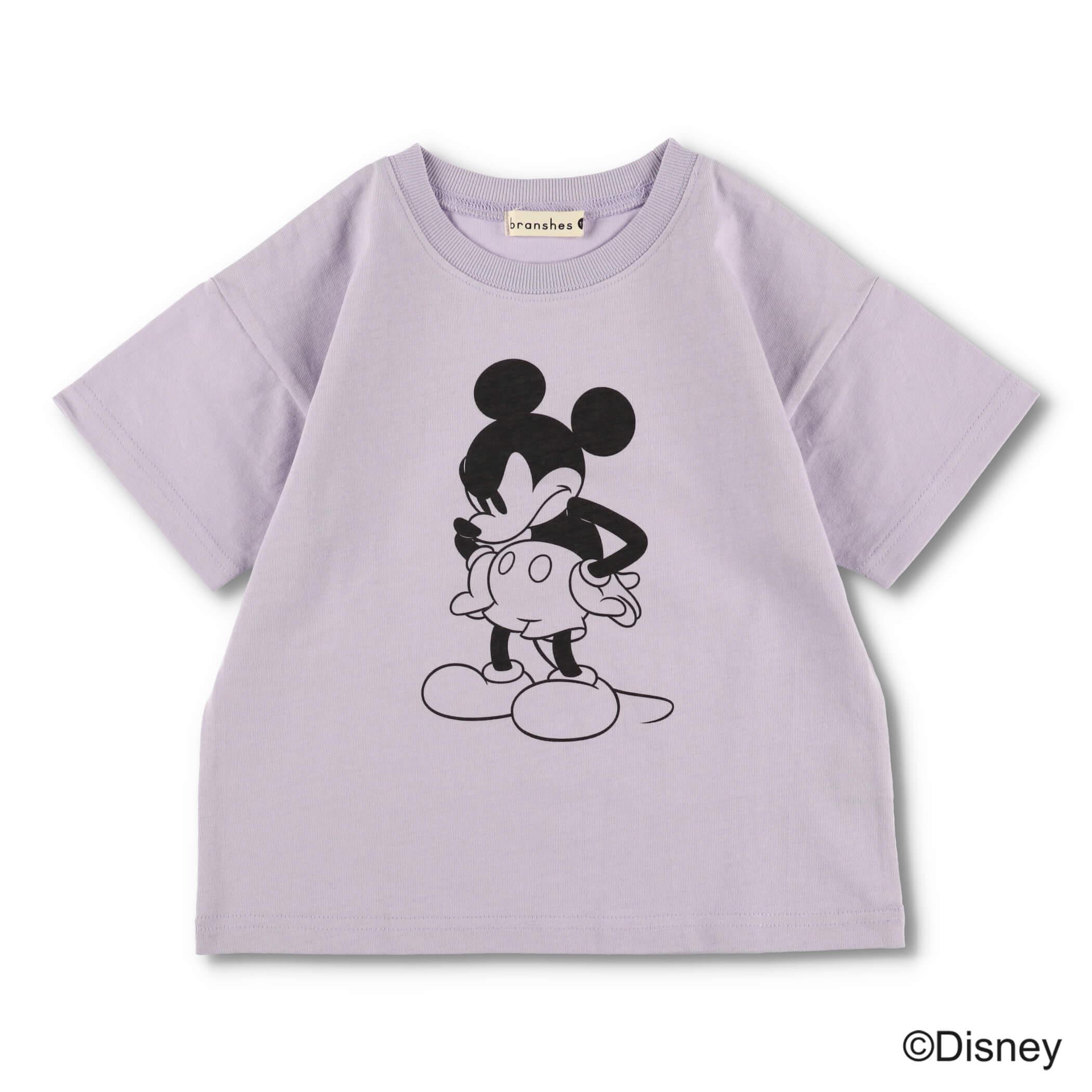 モノトーンプリント半袖Tシャツ